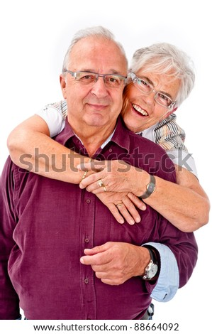 Happy seniors couple in love
