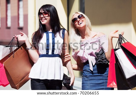 Happy shopping - stock photo