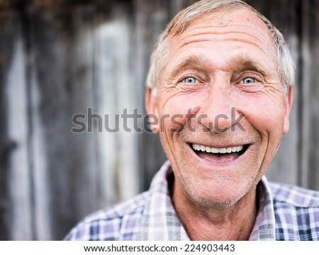 Happy smiling elder senior man portrait #224903443