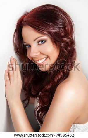 happy smiling woman with clear make-up