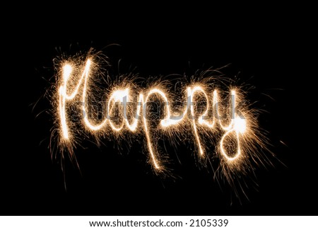 happy sparkler (you can see other words in my portfolio)