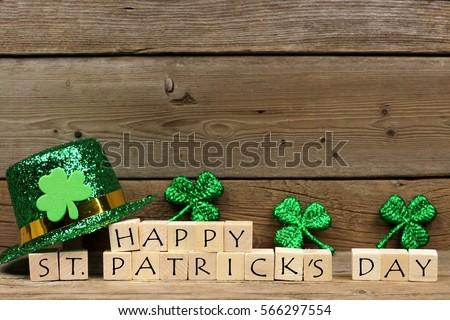 happy st patricks day wooden...