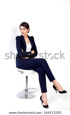 happy successful business woman ...