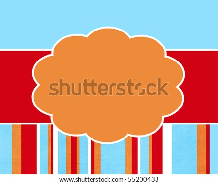 Happy Summer Stripe Card Background Template