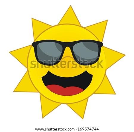 Happy Sun - Summer Days - The Sun With Sunglasses Stock ...