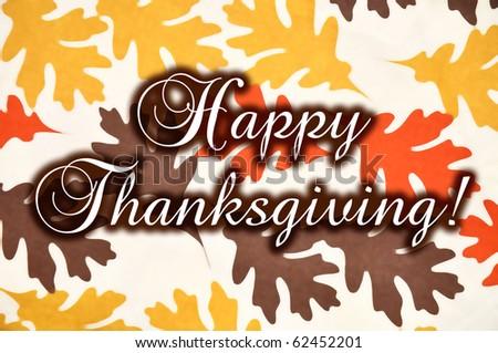 Happy Thanksgiving, concept