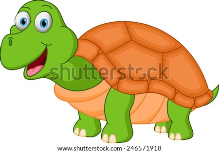 Happy turtle cartoon stock photo 246571918 shutterstock - Clipart tortue ...