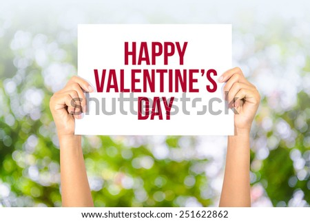 Happy valentine\'s day card with bokeh background, Happy Valentine\'s Day concept.