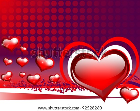 Happy Valentine\'s day card with sweet hearts