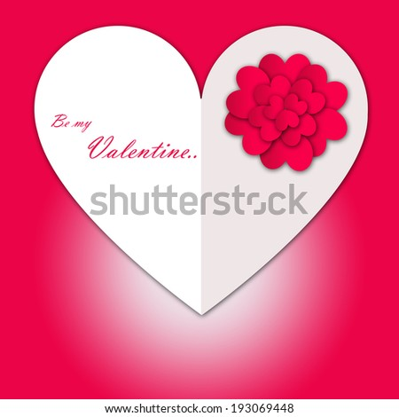Happy Valentine\'s Day Lovely Heart With Flowers