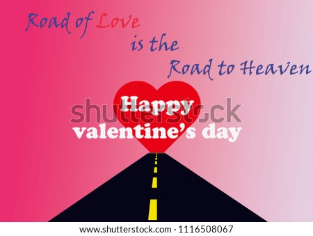 Happy valentine's day valentines day greetings greeting card with catchy phrase heart