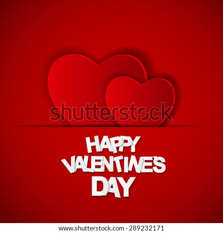 Happy Valentines Day Card.  Illustration #289232171