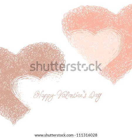 Happy Valentines Day card. Raster version, vector file available in portfolio.