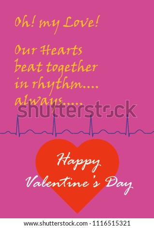 Happy Valentines day Happy valentine's day Greeting Greetings card cards with catchy phrase