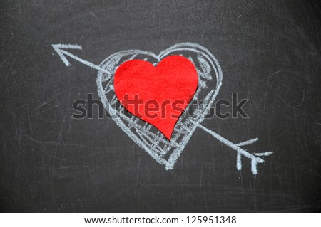 Happy valentines day, heart is by hand drawn