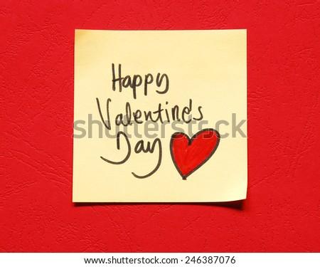 happy valentines day note #246387076