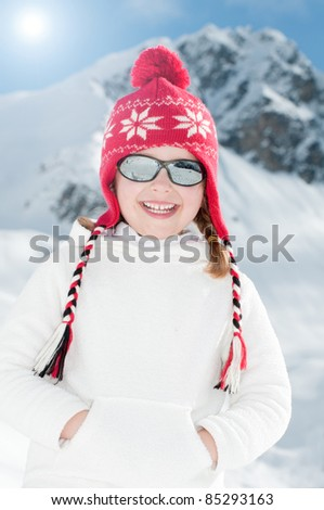 Happy winter vacation - little girl portrait