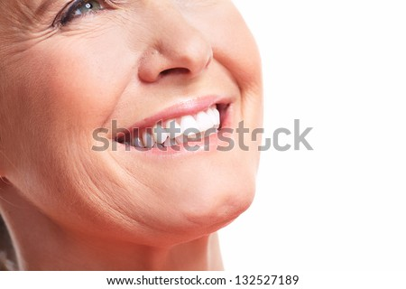 Happy Woman Smile. Dental Care. White Teeth. Stock Photo 132527189