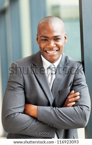 happy young african american businessman portrait