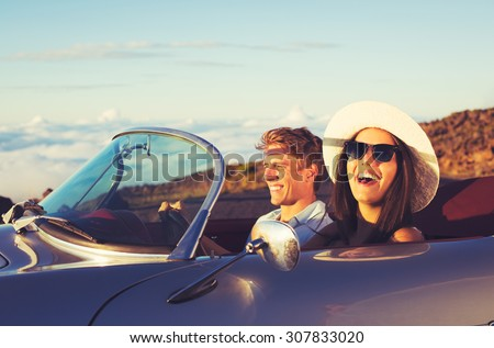 happy young couple in classic...