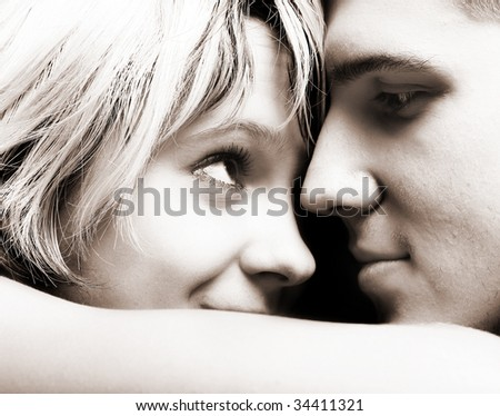 stock photo : Happy young couple in love