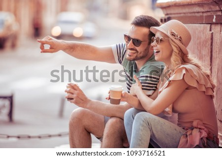 Happy young couple in love hugging,enjoying in spring day together. #1093716521