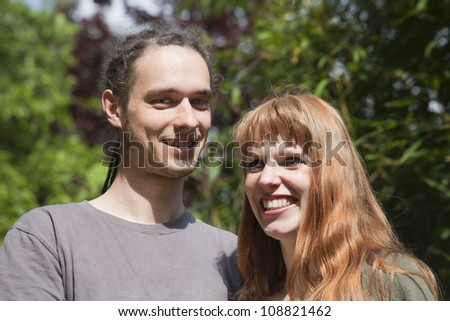 Happy Young Couple Outdoors � Germany, Europe