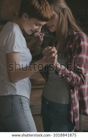 lesbians holding hands