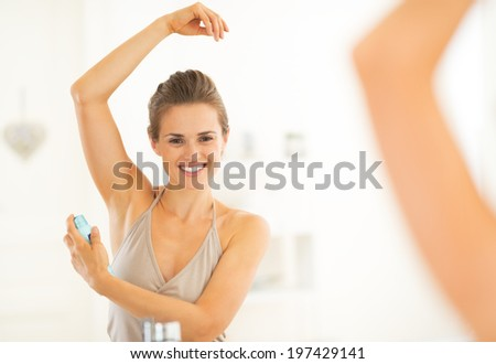 muscular young man with deodorant stock image male models picture