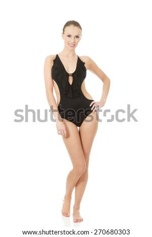 03c085516 Beautiful woman lifts her dress.… Stock Photo 330635276 - Avopix.com