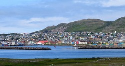 harbor and city panorama of Saint Pierre, Saint Pierre and Miquelon
