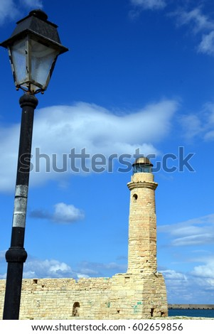 harbor and lighthouse of the...