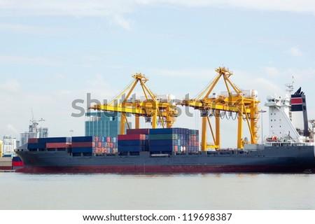 Harbor Freight.Cargo ships. International
