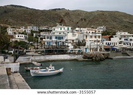 Harbor  of Chora Sfakion, Crete, Greece