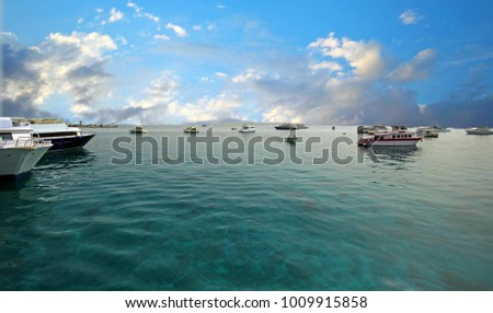 Harbor of Fishing Boats. Hurghada, Egypt #1009915858