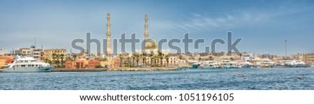 Harbor of Hurghada in Egypt #1051196105