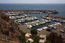 Harbor of San Jose in province Almeria,Andalusia,Spain,Europe