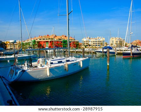Harbor of Sotogrande, Andalusia, Spain