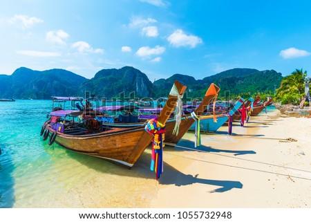 Harbor on Ton Sai Bay,  Phi Phi Islands,  Andaman Sea, Thailand