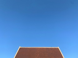 Harbor roof, bright sky day