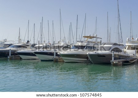 harbor scenery at San Vincenzo, a town in Italy