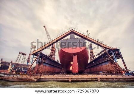 Harbor ship repair shop
