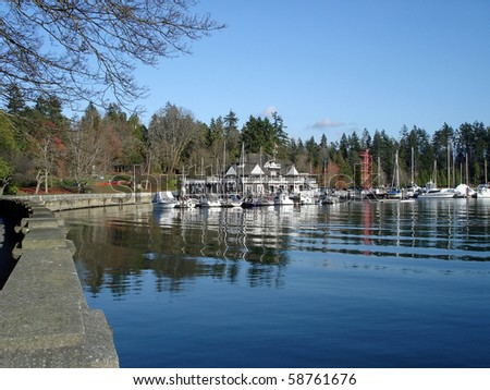 Harbor View in Vancouver, Boats In Stanley Park
