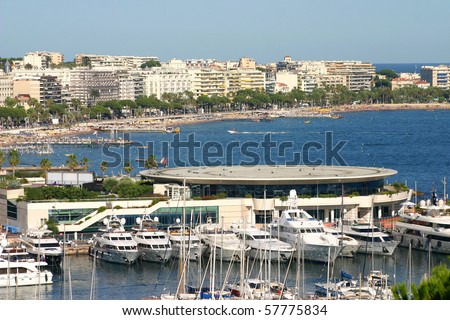 Harbour and marina at Cannes, France