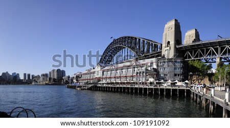 Harbour Bridge from Walsh Bay, Sydney