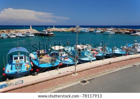 Harbour of Protaras on Cyprus island