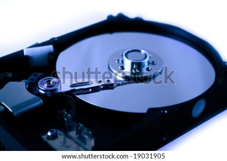 hard disk, computer drive to information