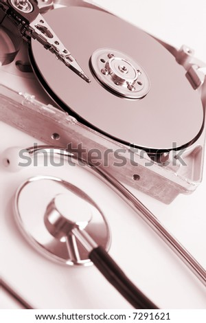 Hard disk details with stethoscope, hard disk diagnosis