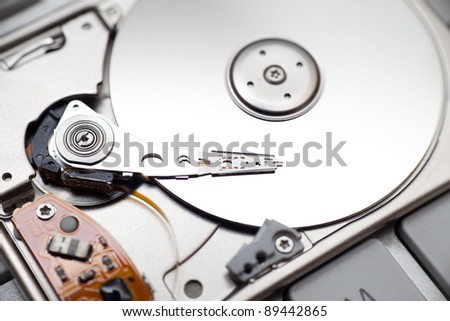 Hard disk drive close up