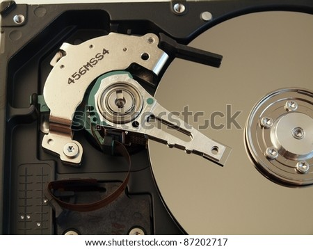 Hard Disk Drive (HDD) open